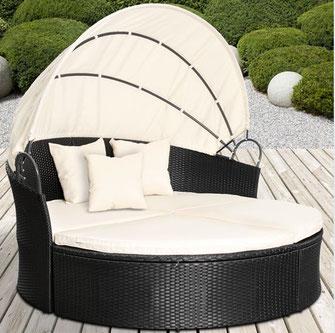 divano tondo cupola rattan polyrattan