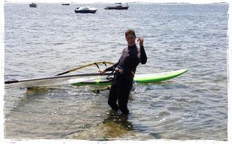 Windsurfen lernen an der Ostsee im Windsurfkurs im Salzhaff in Rerik