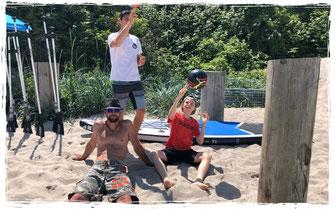 Beachvolleyball und sup mieten in der Surfschule in Kühlungsborn an der Ostsee.