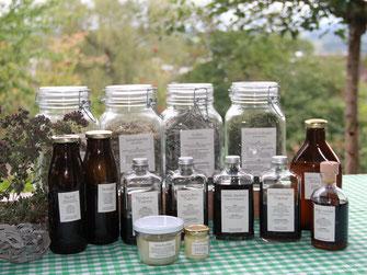 Heilpflanzen selber herstellen, Tinktur, Ölauszug, Salbe, Rotöl, Heilpflanzenkurs