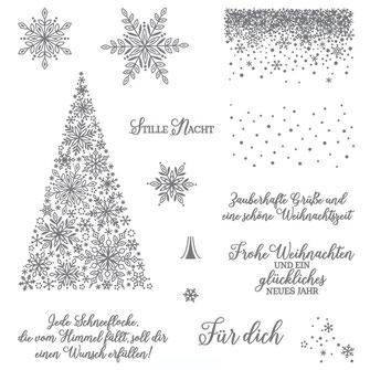 Stampin Up Flockengestöber Stempelset Weihnachten Produkte Bestellen Stempeln Basteln Selbstgemacht