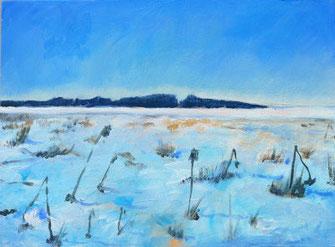 Winterbild, ölgemälde, landsberg, blau