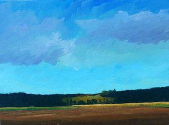 Landschaft, blau, braun