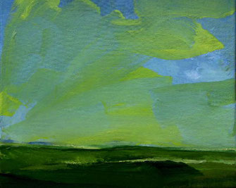 Landschaft, Öl/Leinwand, 25x30cm