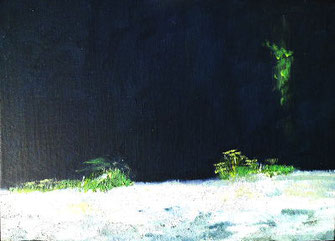 Ölbild, Landschaft, sommer