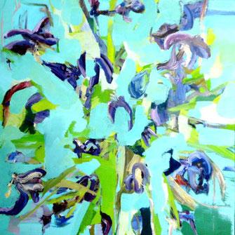 Tulpen, 80 x 80 cm Öl/Leinwand