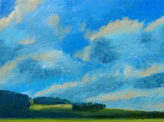 Himmel, Wolken, Wiesen Wald, Landschaft