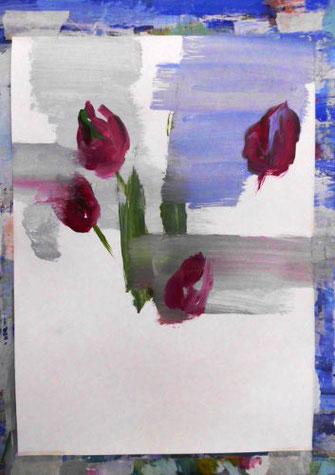 Erste Striche, Tulpen