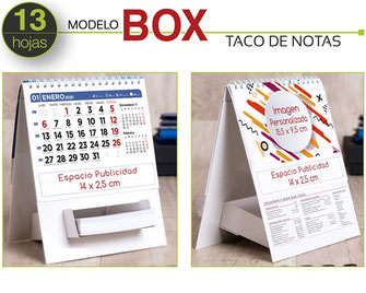 Calendario sobremesa PORTA NOTAS  (13 hojas)