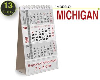 Calendario sobremesa de cartón