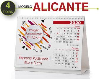 Calendario sobremesa bimensual (5 hojas)