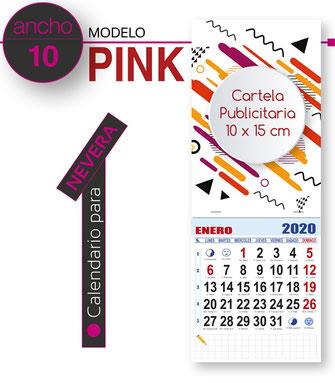 Calendario de pared publicitario cartela todo color con faldilla mensual