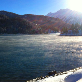 Bild See Davos im Winter