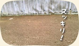 3.既存の芝生剥がし完了:芝生張り(張り替え)の作業手順【門西造園】浜松・湖西・磐田・豊橋