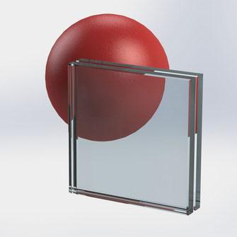 Glasgeländer, VSG-Glas, klar