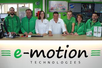 Die e-motion e-Bike Experten in der e-motion e-Bike Welt in Lübeck