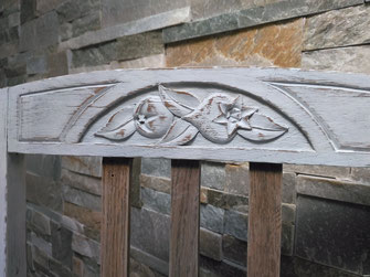 relooking de meubles chaise ancienne blanche bois cannage cannée, le mans, sarthe
