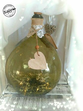 Dame Jeanne lumineuse location decoration mariage vintage champetre le mans sarthe m'elledecors