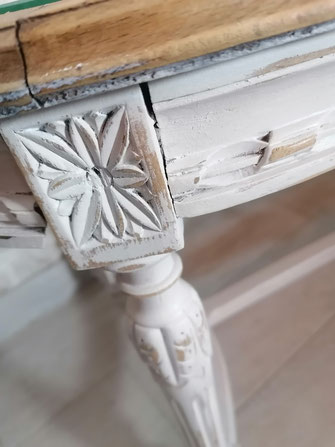 relooking de meuble le mans sarthe table basse louis campagne pois beige boi
