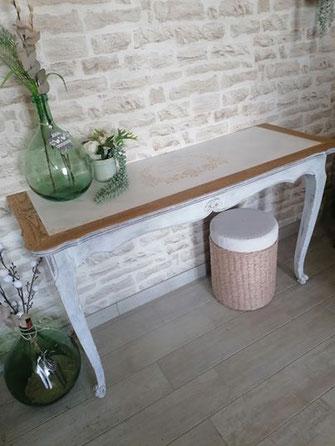 relooking de meuble le mans sarthe console louis création bois blanc le perche