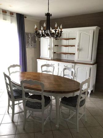 relooking de meubles camaëlle buffet table chaise louis bois blanc le mans sarthe