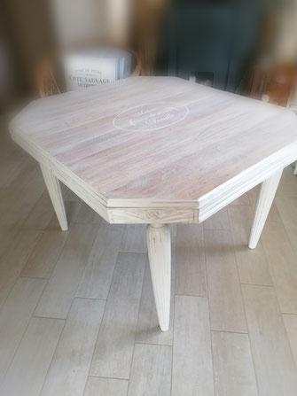 relooking de meuble le mans sarthe table à manger 1930 campagne cérusé maison de famille
