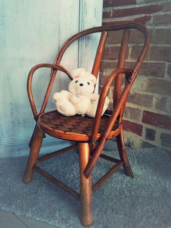 chaise enfant rotin location baptême mariage vintage champêtre le mans sarthe