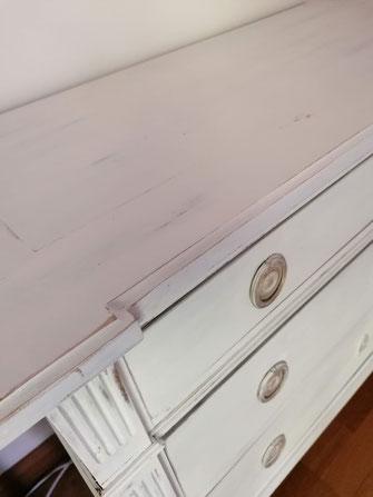 relooking restauration de meubles ancien chambre commode louis patine shabby blanc gris le mans sarthe