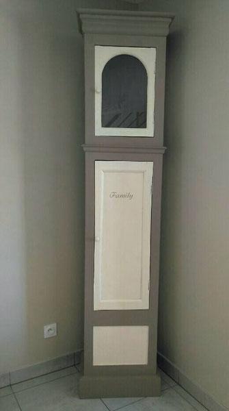 relooking de meuble horloge comtoise beige taupe family le mans sarthe