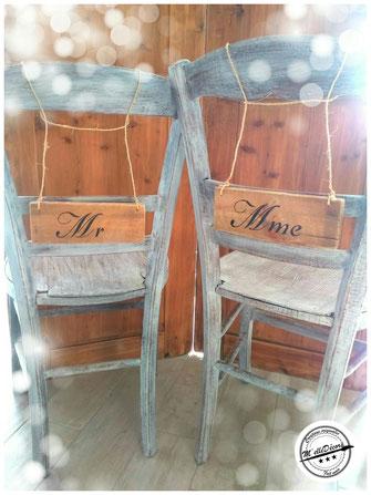Les panneaux Mr et Mme location decoration mariage vintage champetre le mans sarthe m'elledecors
