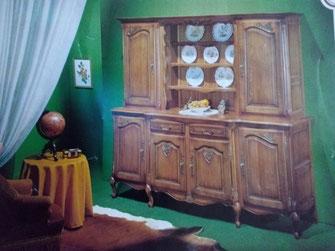 relooking de meubles buffet table chaise louis bois blanc le mans sarthe