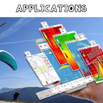 Les applications pour le parapente et le paramoteur
