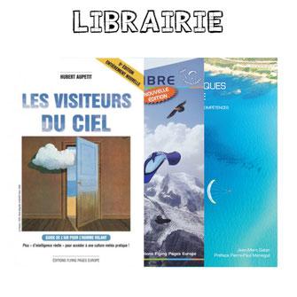 livres à la vente pour le parapente et le paramoteur