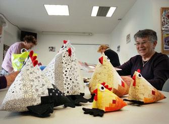 Atelier patchwork prépare Pâques
