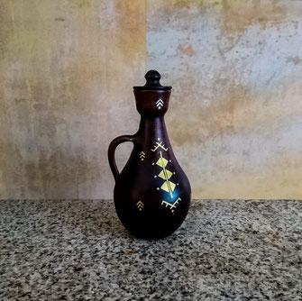 jarre, déco, intérieur, maison, berbère, amazigh, artisanat, poterie, noire, marron, doré