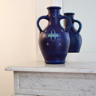 jarre, déco, maison, berbère, brune, noire, artisanat, poterie