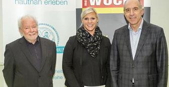 vlnr. Günther Wanke, Heike Schönbach, Prof. H. Olschewski