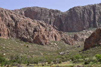 Site Djebel Lekst, Anti-Atlas sud-occidental, 2018, ©Frédérique Courtin
