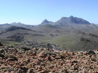 Site de hilltopping des mâles dans le Massif de l'Akoumbi, Anti-Atlas sud-occidental, ©Frédérique Courtin-Tarrier