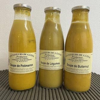 Soupes à base de légumes frais producteur les saveurs de Gâtine