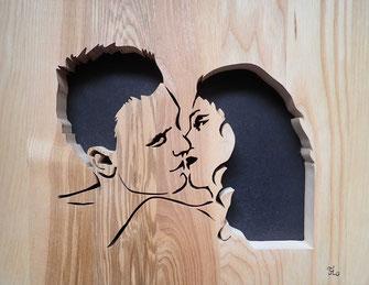 Le baiser - Atelier Eclats de bois