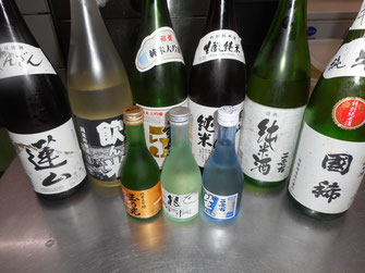 北海道産の美味しいお酒も数種類