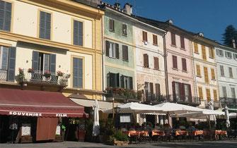 Orta San Giulio, piazza Motta e imbarcadero