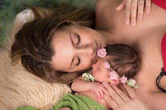 mama en baby dochter