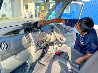 送迎車内のオゾンによる消毒