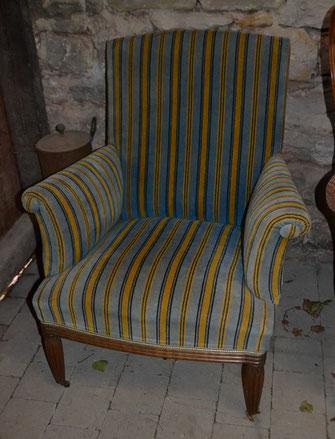 Sessel Polsterarbeit gepolstert Antik Schowalter
