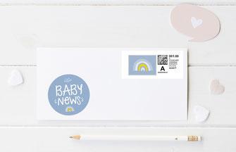 Sticker Geburtsanzeige