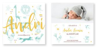 Geburtskarte für Jungen Schweiz Geburtsanzeige kartendings.ch