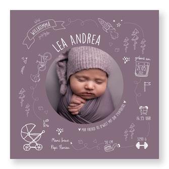 Geburtskarte Geburtsanzeige kreativ Schweiz speziell kartendings.ch Fahrrad Veloanhänger Kinderwagen