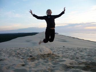 Drôle d'oiseau sur la Dune du Pilat (envoyée par Claire)